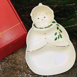 Lenox Snowman Candy Dish